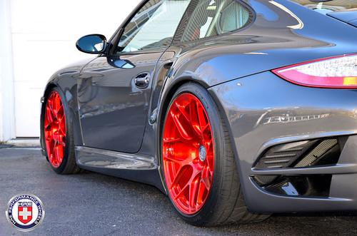 porsche 911 997 turbo grey hre p40sc red tinted brushed flickr. Black Bedroom Furniture Sets. Home Design Ideas