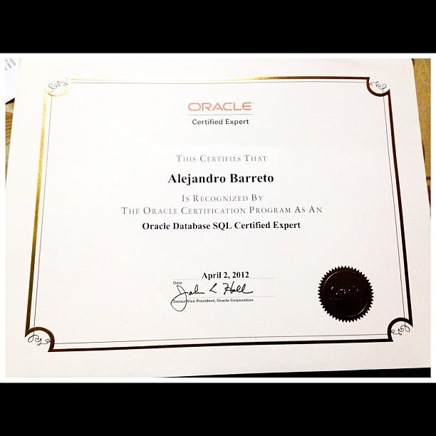 diploma de certificacion oracle sql expert arbo hacker flickr