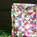 simply solids HST quilt top