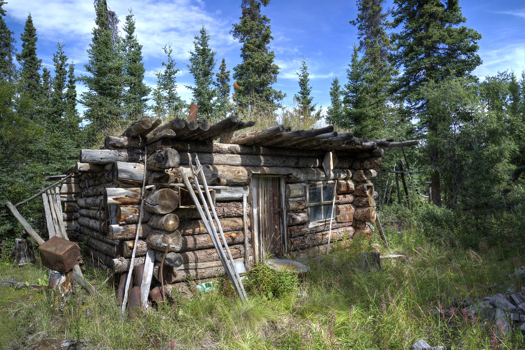 Abandoned Trappers Cabin Middle Of Nowhere Yukon