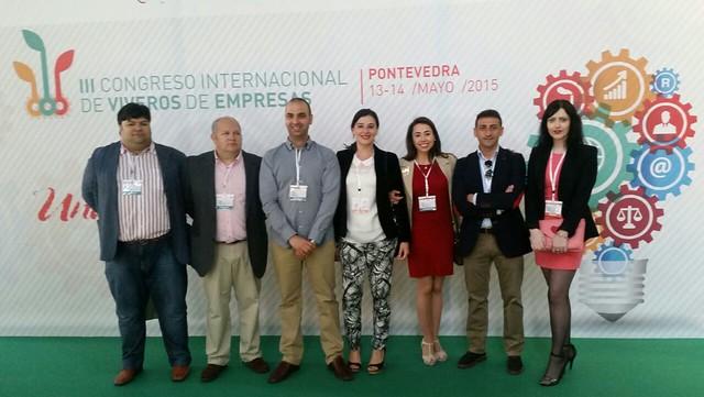 Emprendedores salmantinos asistentes al III Congreso Internacional de Viveros de Empresas.