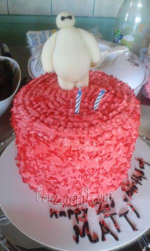 simple baymax cake