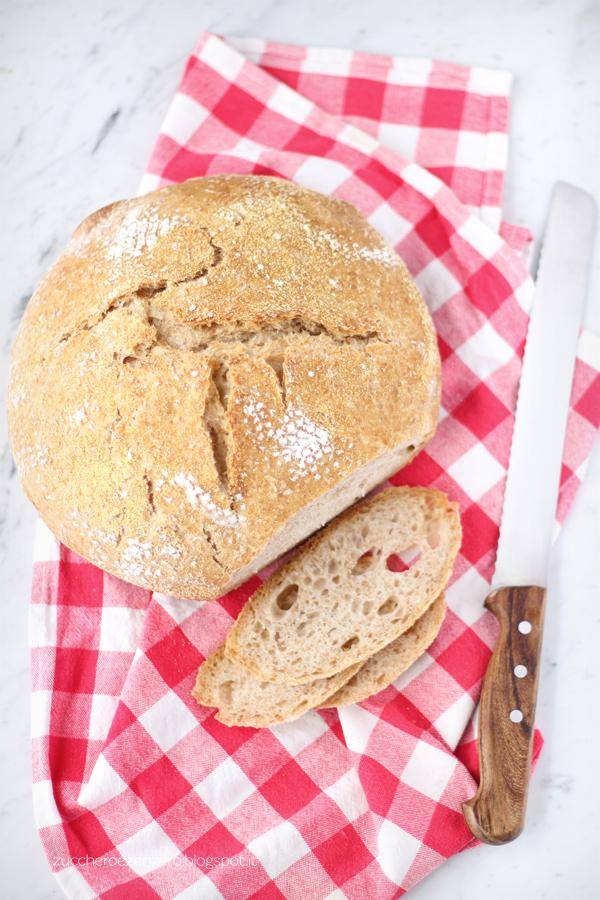 Pane senza impasto con lievito madre