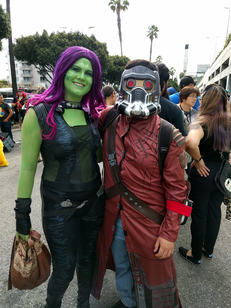 Bien connu Gamora and Star-Lord | Saturday at LA Comic Con 2016 | Kelson  PO03