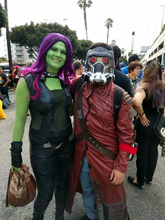 Gamora and Star-Lord