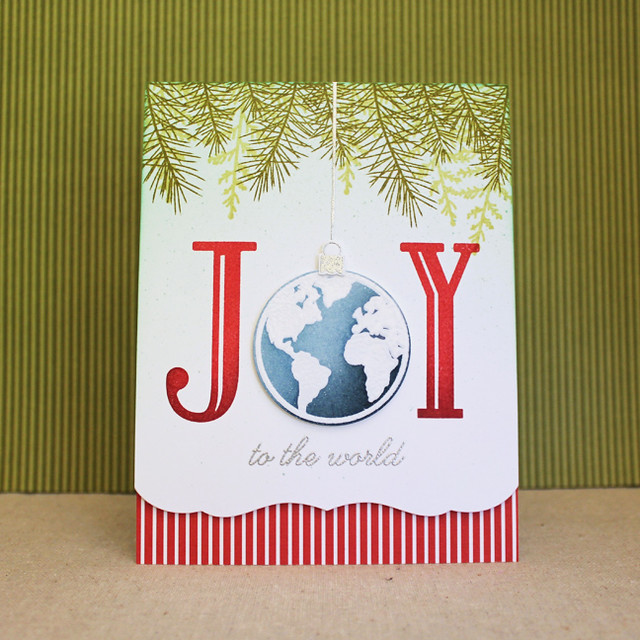 Joy To The World Ornament Card