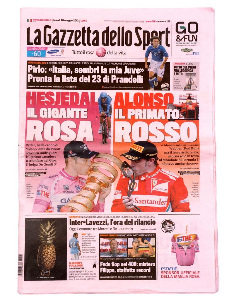 Gazzetta Dello Sport Giro Italia la Gazzetta Dello Sport