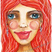 """""""Red Haired Woman"""" ICAD : 6-16-13"""