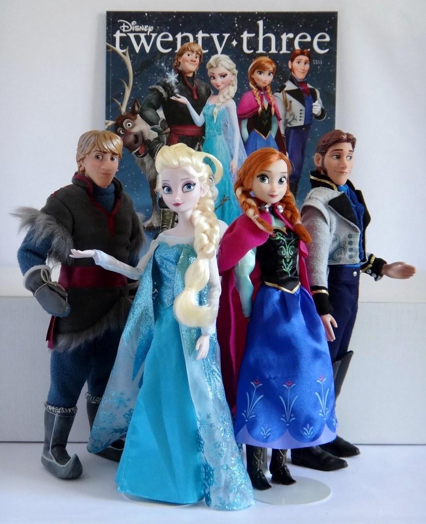 Kristoff Elsa Anna And Hans Dolls Frozen D23 Disney
