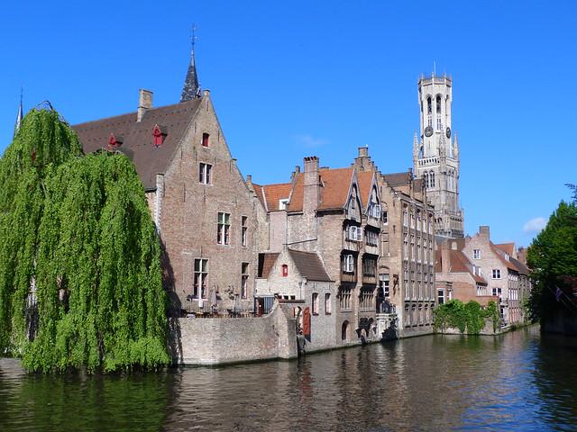 Postal de Brujas (Flandes)