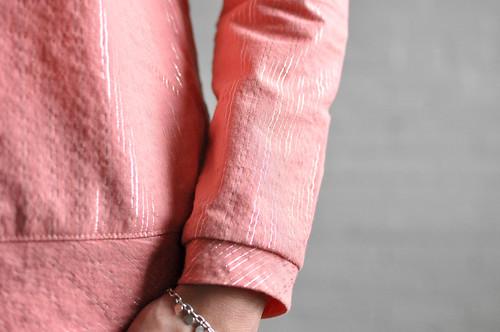 Linden Sweatshirt : Metallic Stripe Woven