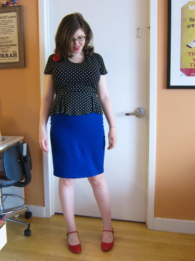 Burdastyle Melissa High-Waisted Blue Ponte Pencil Skirt