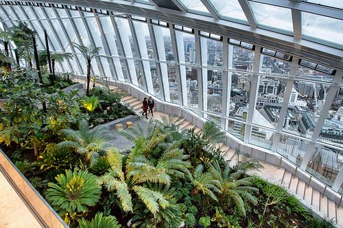 "Sky Garden at the top of the ""Walkie Talkie"" building, London"
