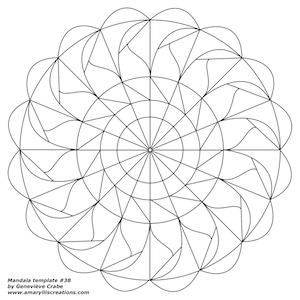 Mandala template 38