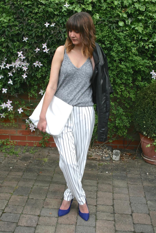 white, grey, stripes, leather