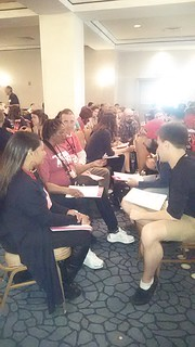 Northern Kentucky member Serena Owen participating in a small group discussion at the Populism 2015 conference in Washington D.C.