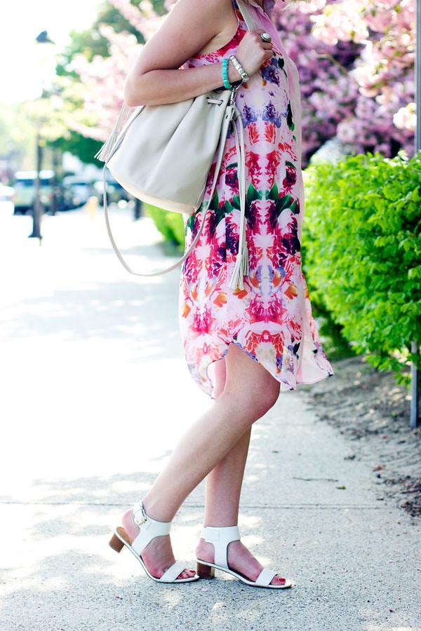 Printed spring dress
