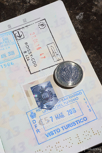 San Marino Passport stamp