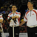 Basel Switzerland.April7_2012.Men's World Curling Championship.Canadian 2nd.Brent Laing,lead Craig Savill,3rd.Wayne Middaugh.CCA/michael burns photo