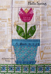 Hello Spring Tulip Block by Charise *