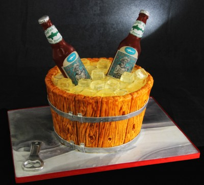 How To Make A Beer Shaped Cake