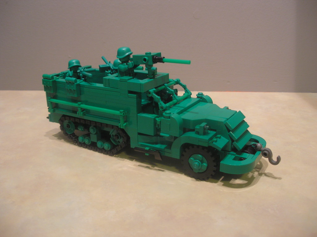 lego army truck instructions