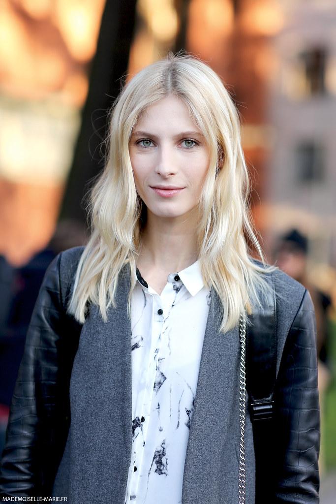 Model Martyna Budna at Milan Fashion Week