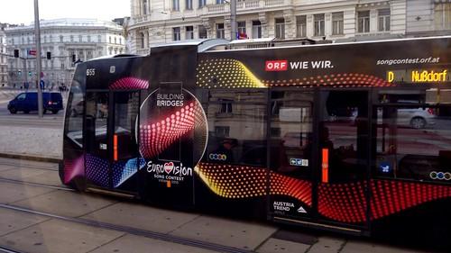 Eurovision tram - Vienna, Austria