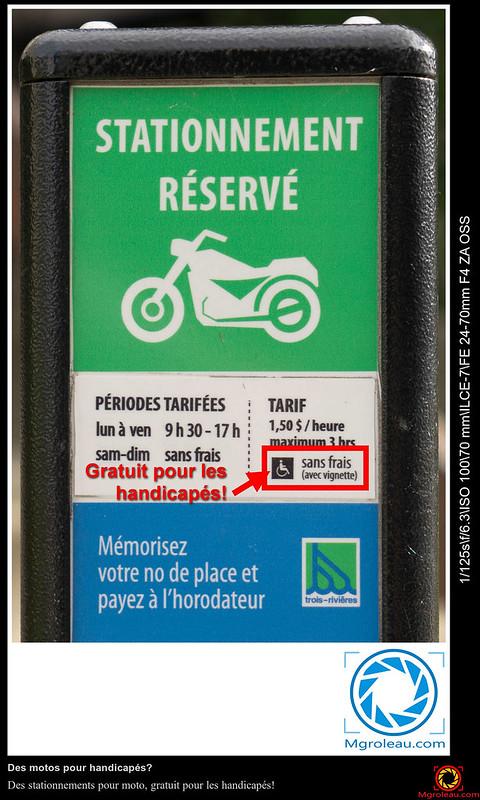 stationnement pour moto gratuit pour les handicap s mario groleau depuis 1997. Black Bedroom Furniture Sets. Home Design Ideas