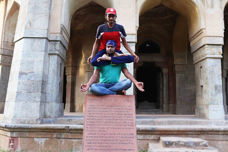 City Moment – Yoga Homage to Emperor Muhammad Shah, Lodhi Gardens