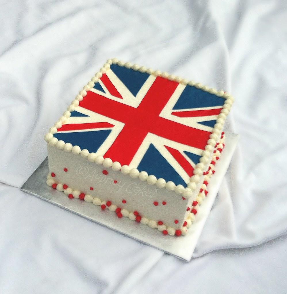 England Flag Cake
