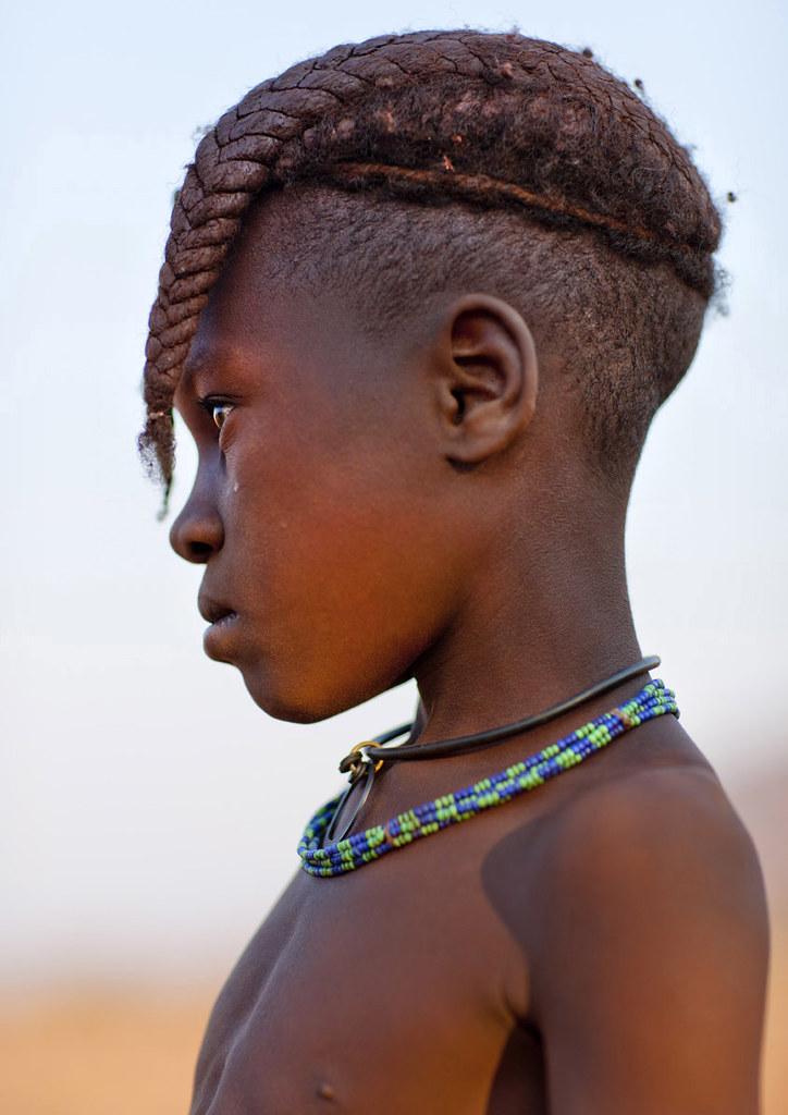 Himba Girl, Okapale Area, Namibia
