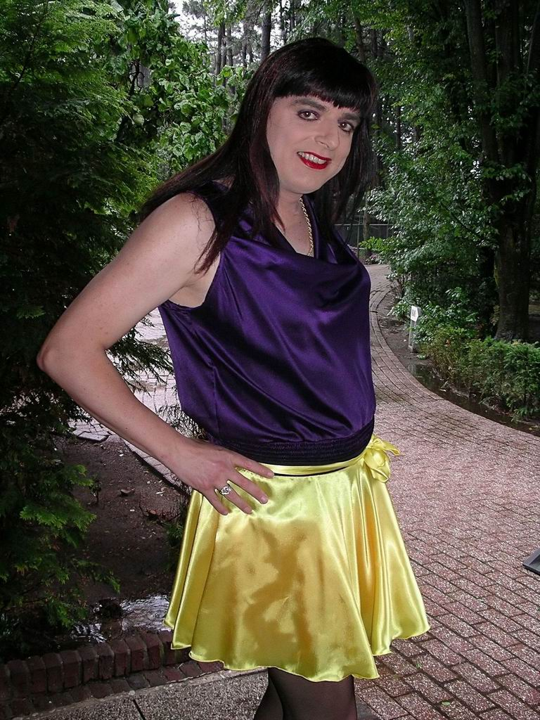 Purple Satin Skirt Blowjob In Locker Room
