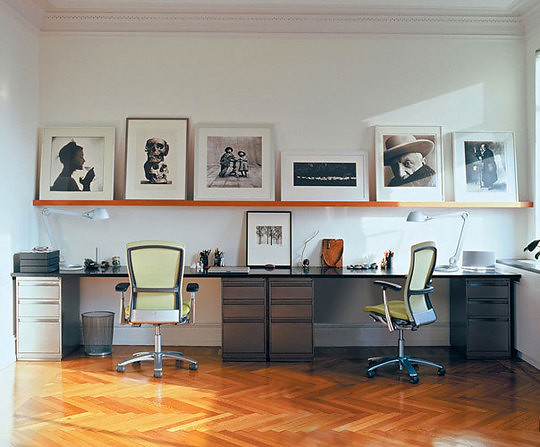 how to create a shared home office featured on my blog flickr. Black Bedroom Furniture Sets. Home Design Ideas