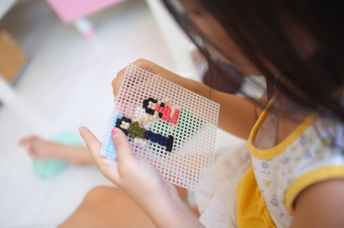 learning to do cross-stitching... | by .thalia.