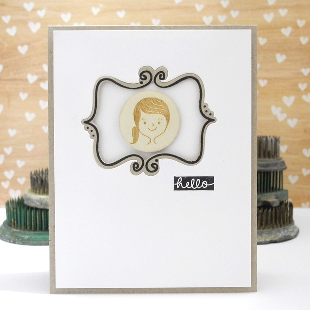 Hello, Girl by Jennifer Ingle #pinkfreshsstudio #winnieandwalter #spellbinders #diy #cards