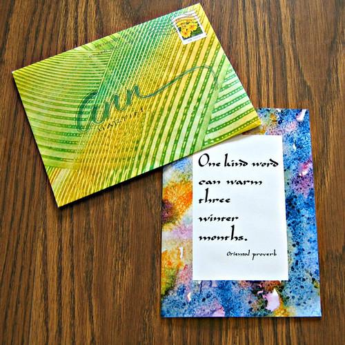 Paste Paper Envelope