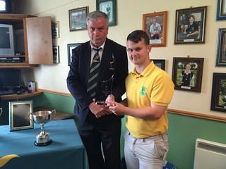 Anthony Ryan 2015 Leinster Junior Gents Matchplay Champion