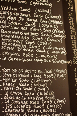 wine list at Vivant | by David Lebovitz