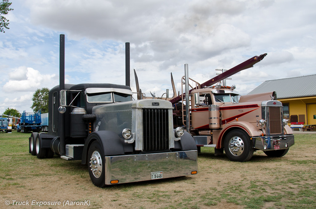 Dl Edwards 1949 Peterbilt 350 And Don Taylor 1952 350 Flickr