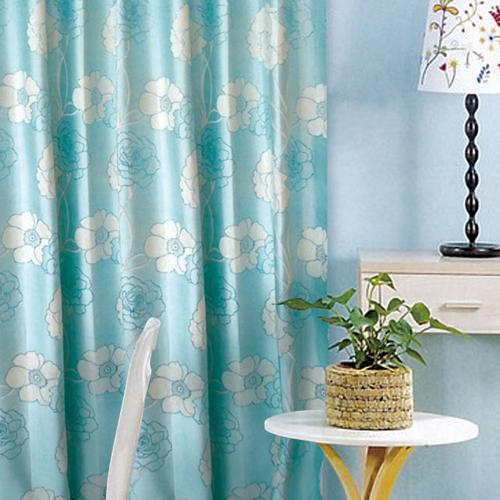 盛薔(獨家) 銀蔥典雅花卉玫瑰薔薇 厚實絨面無接縫窗簾布 DA2790004