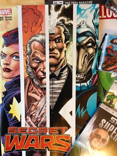 Marvel Comics Zavvi ZBOX, May 2015 Secret Wars 001 Variant Cover