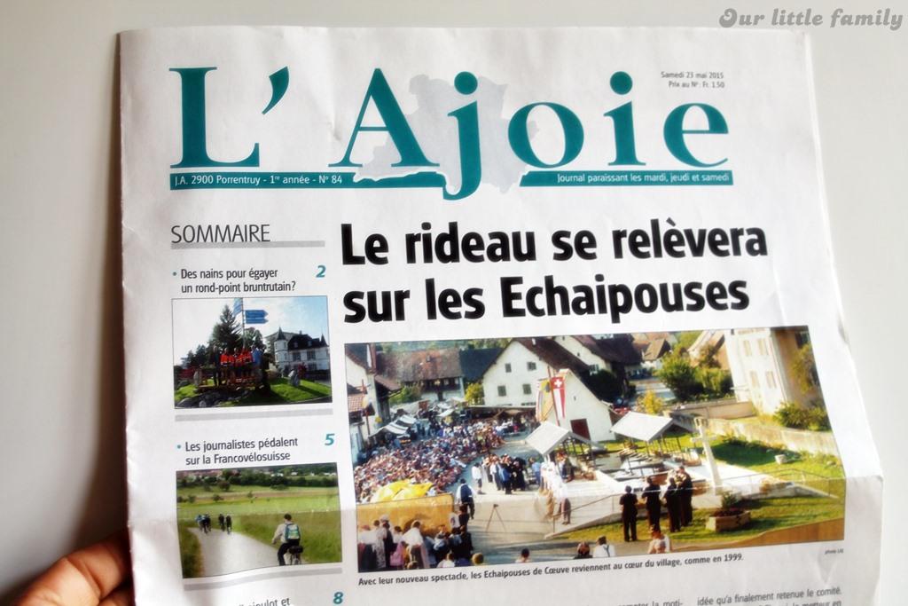 Le journal L'Ajoie
