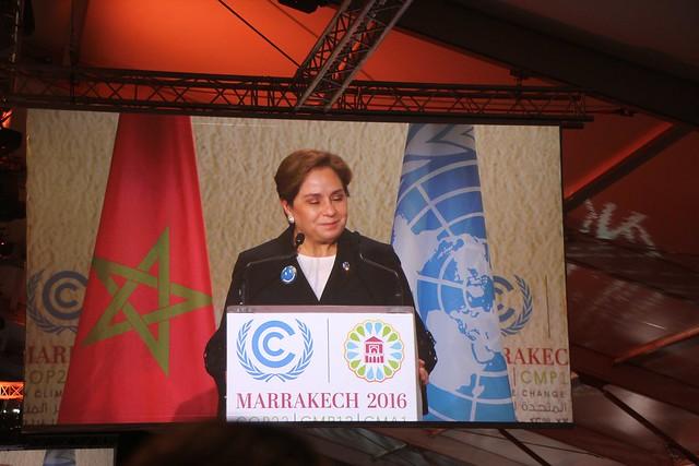 UNFCCC Executive Secretary Patricia Espinosa opening COP22
