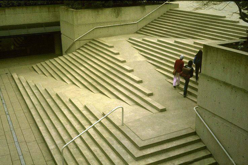 Robson square stramp for Landscape stairs design