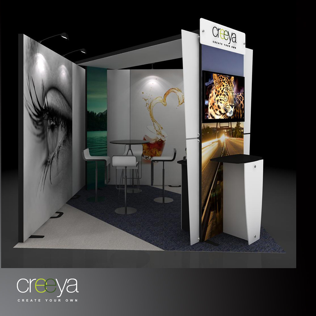 Small Modular Exhibition Stands : Reusable booth design creeya is the