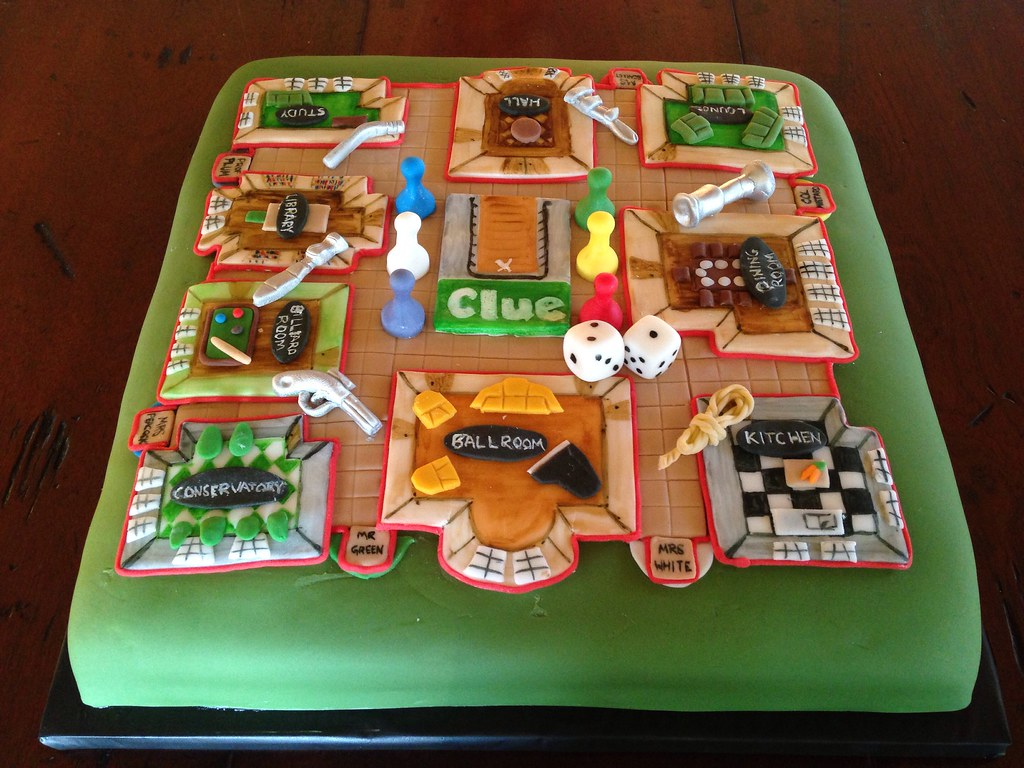 Clue Birthday Cake
