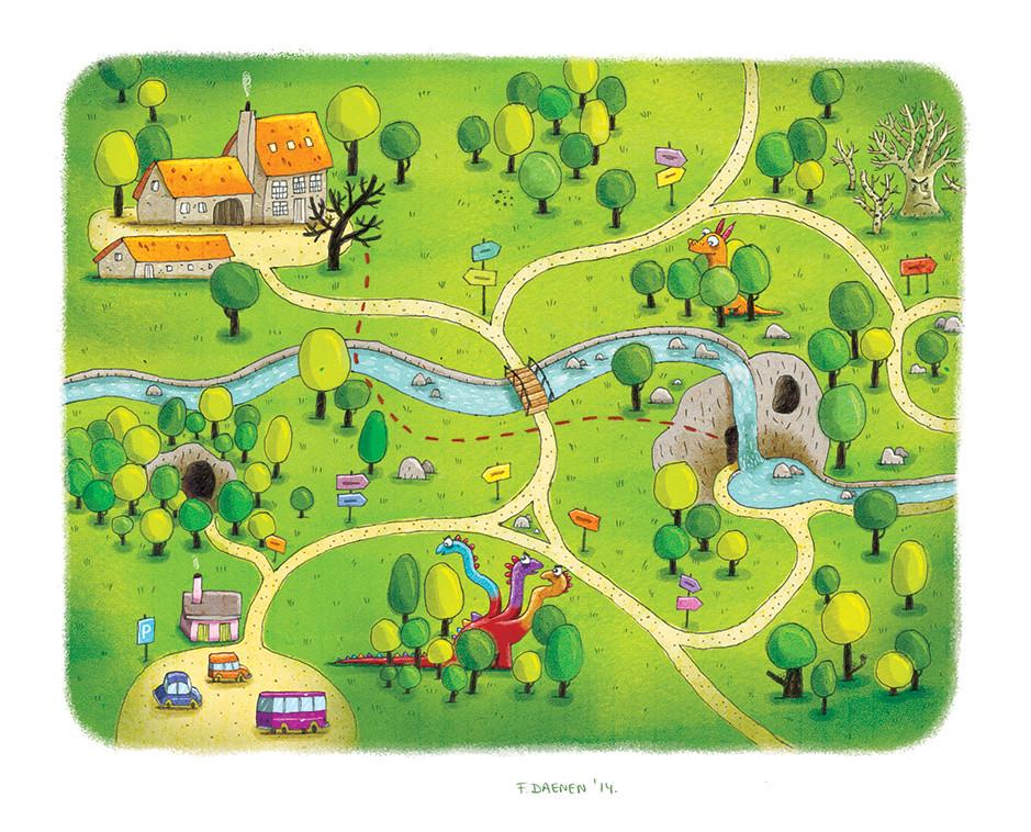 Illustration for a children 39 s forest walk map Frank Daenen Flickr