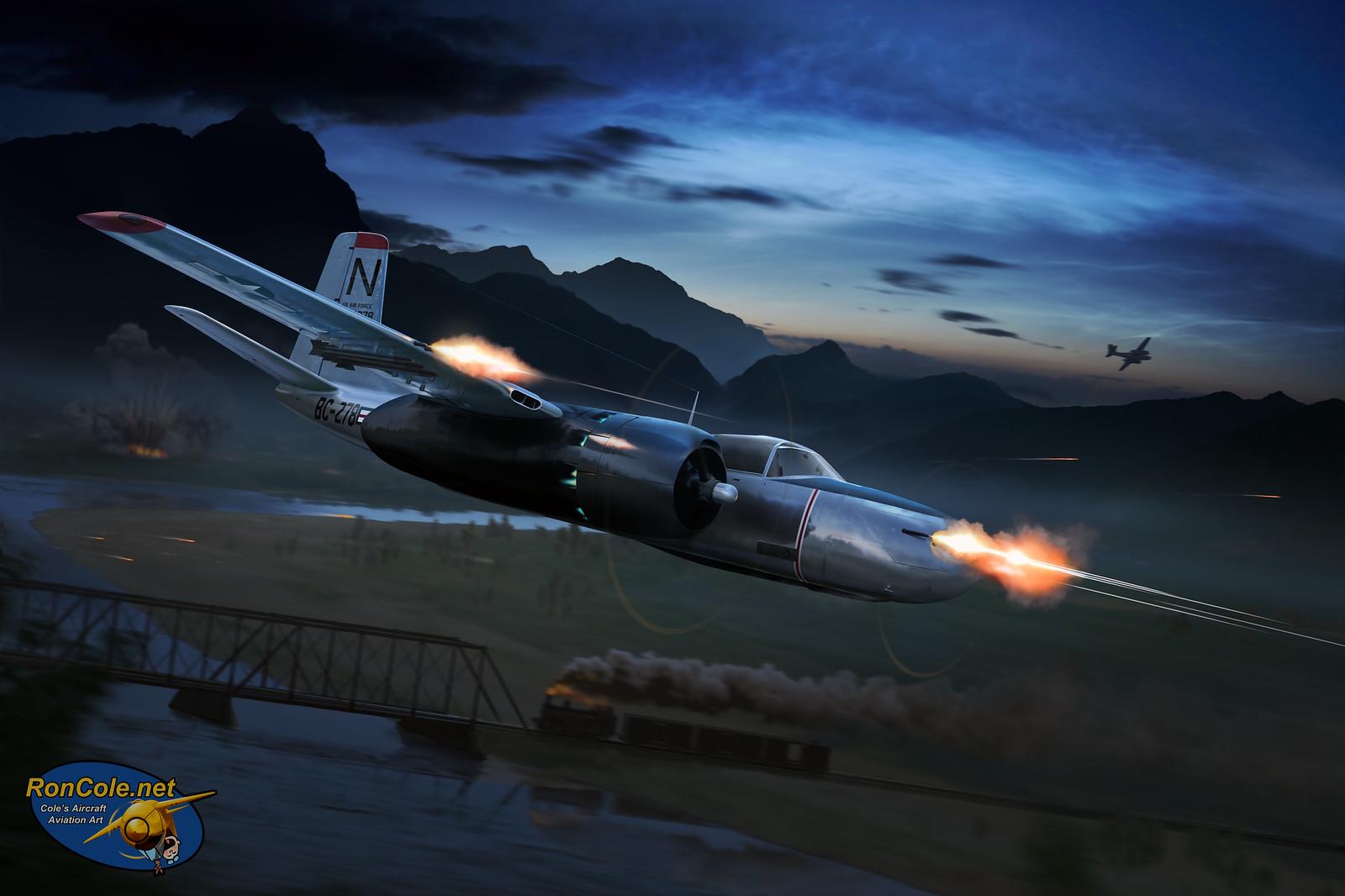рисунок Douglas A-26 Invader