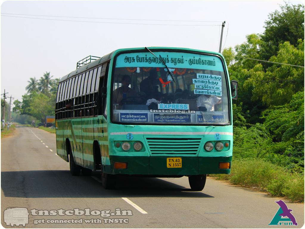 TN-63N-1557 of Mudukulathur Depot Sayalkudi - Nagore via Paramakudi, Devakottai, Karaikudi, Aranthangi, Pattukkottai, Thiruthuraipoondi, Velankanni, Nagapattinam